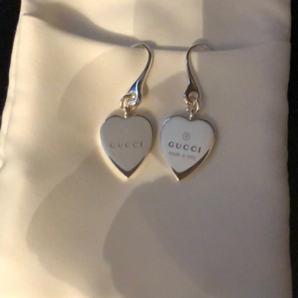 f0cf2698320 Gucci Jewelry - GUCCI Heart❤925 Silver drop earrings